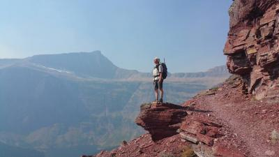 Hiker on a Ledge