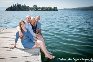 Sitting on the Dock at Flathead Lake