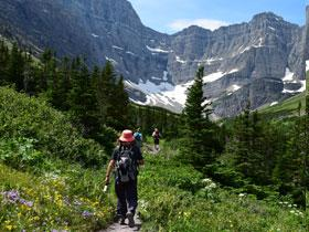 Hiking at Glacier National Park